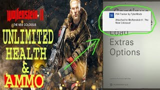 WOLFENSTEIN 2 GAMEPLAY UNLIMITED HEALTH AND AMMO #CHEAT CODE ON PS4