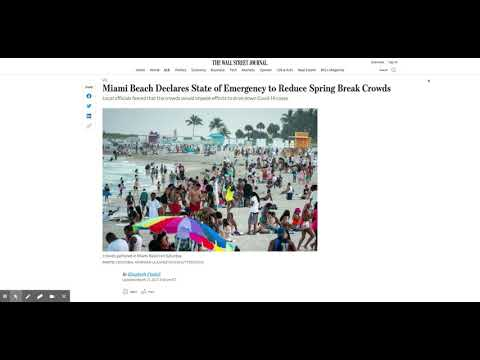 Florida Declare A State of Emergency To Reduce Spring Break Crowd Size