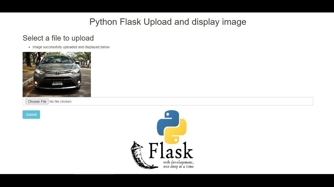 Python Flask Upload and display image