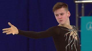 Артем Ковалев Короткая программа Юноши Первенство России по фигурному катанию среди юниоров 2021