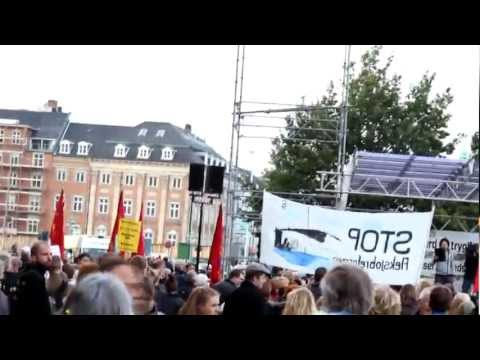 Protest in Copenhagen, Denmark (HD)