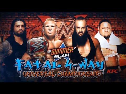 Brock Lesnar vs Roman Reigns vs Braun Stroman vs Samoa Joe [ Full match ] - Summerslam 2017