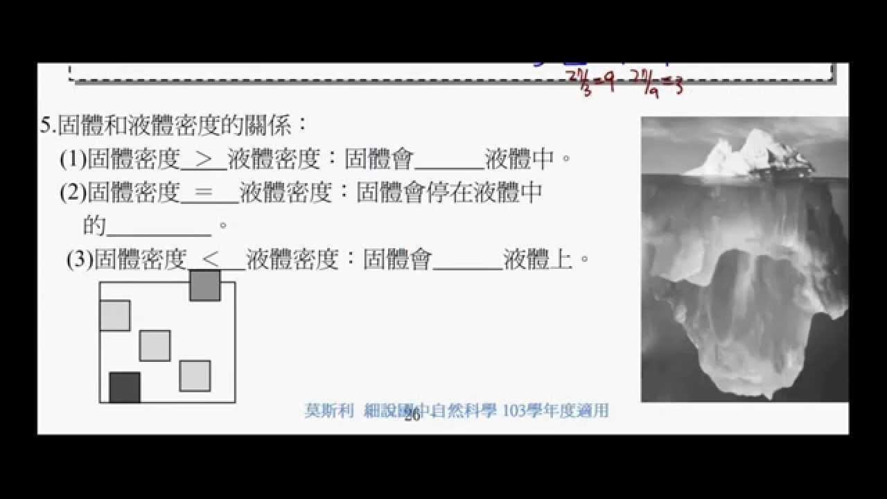 國二理化_密度 【國中理化】 - YouTube