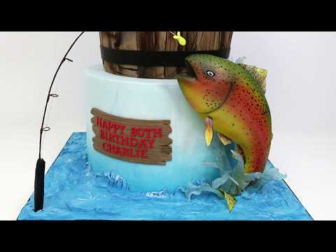 How To Make A Fondant Fish Cake Decoration - Behind The Scenes