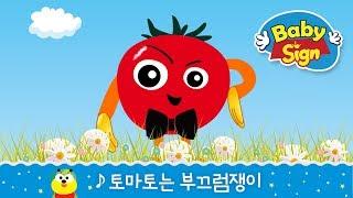 [베이비사인 노래동화] - 토마토는 부끄럼쟁이