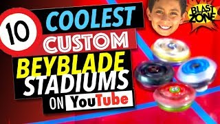 10 Coolest Custom Beyblade Stadiums on YouTube! Best Beyblade Burst Stadium Compilation!