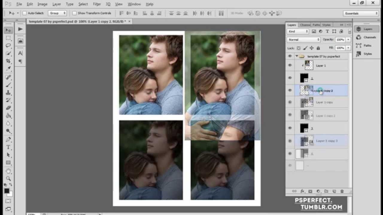 Como Usar Um Template no photoshop - YouTube