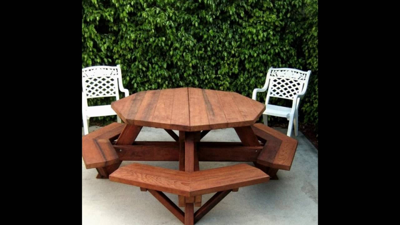 octagon dining room table set - YouTube