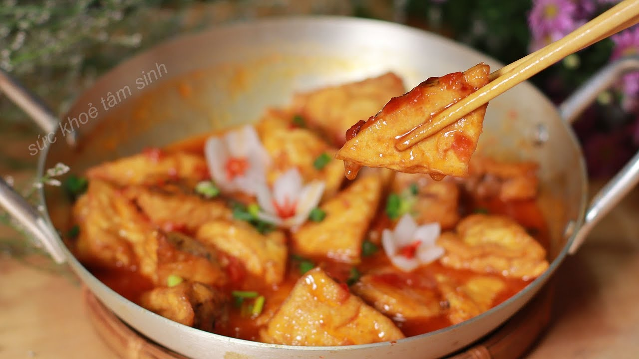 Cách làm Đậu Hủ Nhồi Thịt sốt Cà Chua món ngon trong bữa cơm người Việt