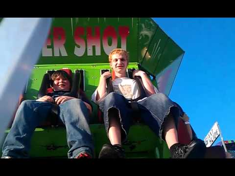 William and Andy ride The Super Shot
