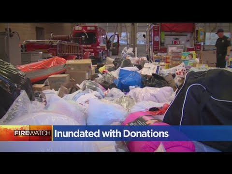 Evacuation Centers Inundated With Donations