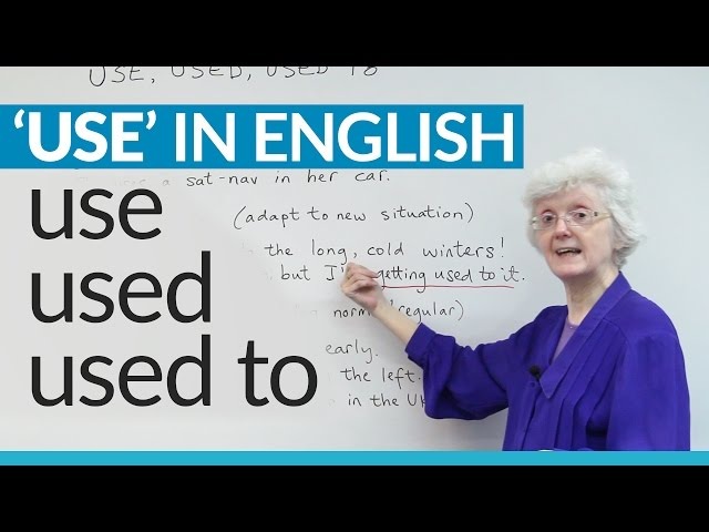 Learn English Grammar: USE, USED, and USED TO