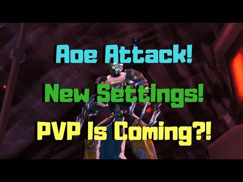 AQ3D Aoe Attacks! New Settings! PVP Is Coming?! AdventureQuest 3D