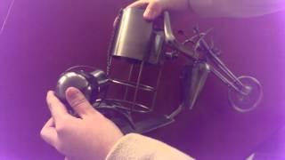 Handmade Iron Art Humanoid Motorcycle Wine Rack   Www.aliyoyo.com