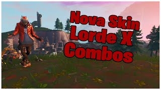 SHOWING THE * NEW * SKIN LORD X & COMBOS | FORTNITE