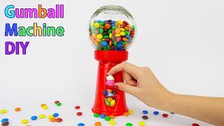 Functional Gumball Machine DIY | Shopkins Candy Holder | Simple Making Candy Dispenser