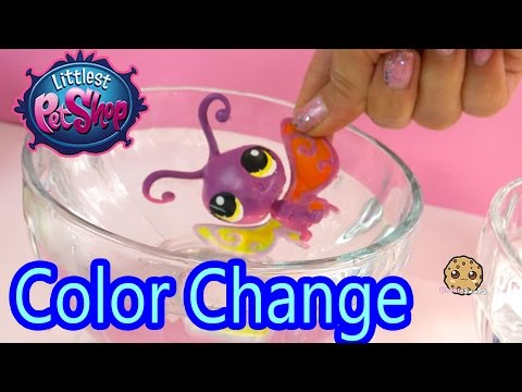 DIY Color Change Littlest Pet Shop Fun Easy Painting Craft Do It Yourself Cookieswirlc LPS Video