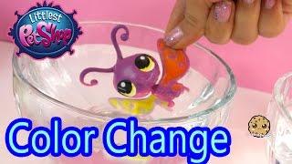 DIY Color Change Littlest Pet Shop Fun Easy Painting Craft Do It Yourself Cookieswirlc LPS Video