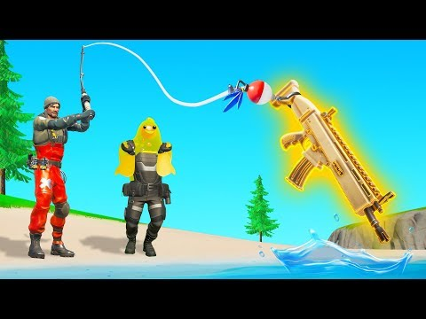 FISHING For LOOT In Fortnite Chapter 2! (challenge)