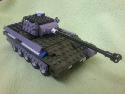 Как построить танк из лего видео