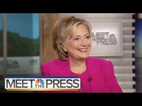 Hillary Clinton On Emails, Sanders (Full Interview) | Meet The Press | NBC News