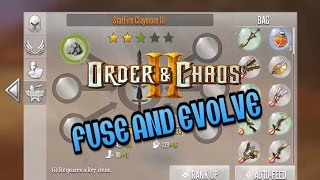 Order and Chaos 2: Redemption - Fusing and Evolving weapon!