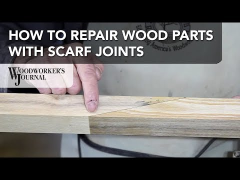 How Repair Project Parts with Scarf Joints | Woodworking