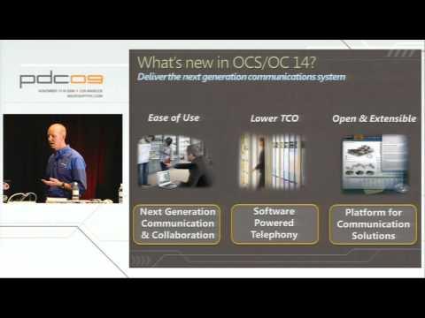 PDC 2009 Microsoft Unified Communications Developer Platform Futures