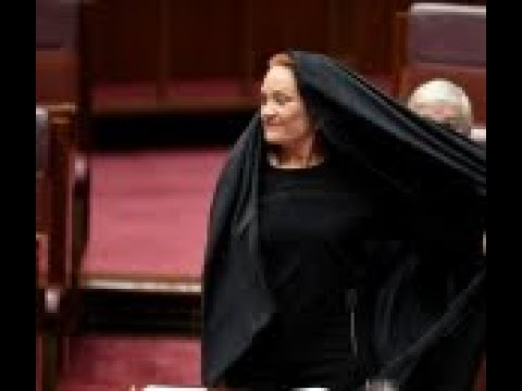 Right wing Australian senator wears burqa in parliament and calls for the garment to be banned
