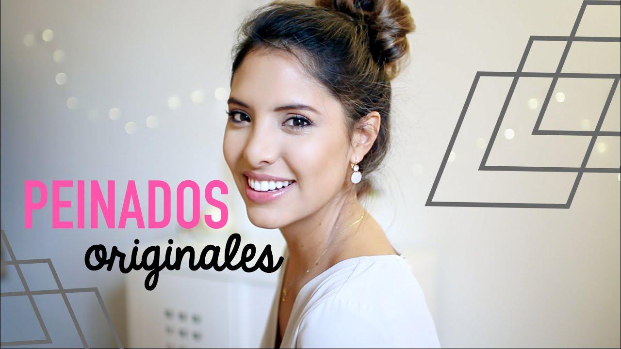 4 PEINADOS BONITOS, RÁPIDOS Y FACILÍSIMOS!! | Valeria Basurco