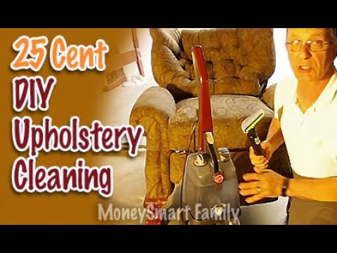 DIY Upholstery Cleaning on a Recliner