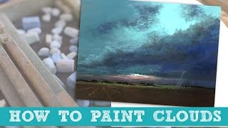 How to Paint Storm Clouds in Pastel Time-lapse Demo by Bethany