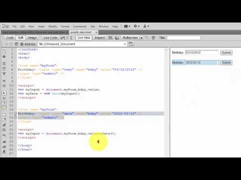 HTML Hacks - How To Return ValueAsDate() As A Date Object Instead Of Date String In Javascript?