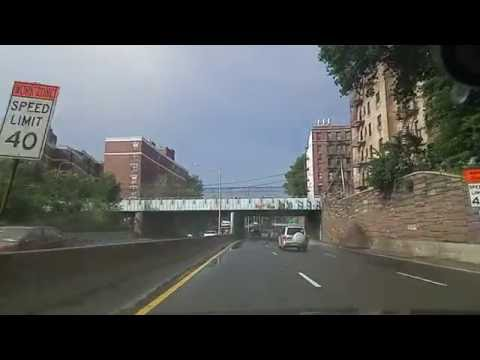 Driving on I-87 from The Bronx to White Plains,New York