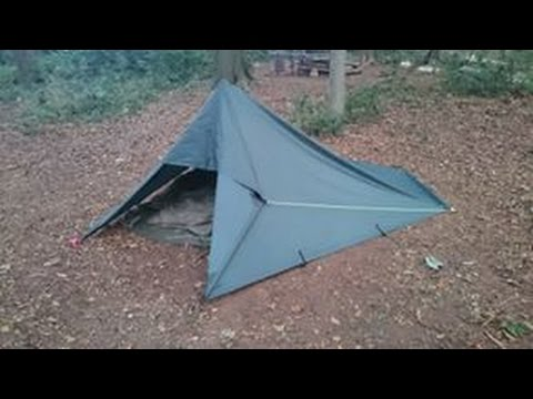 Bushcraft Tarp Tent Build, Wild Camp and Chech Bivi Bed Role