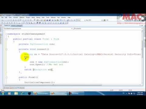 Bài 1 - Kết nối database SQL, hiển thị dữ liệu và databinding (Quản lý Sinh viên)