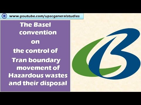 The Basel convention on the control of Tran boundary movement of Hazardous wastes  : Environment