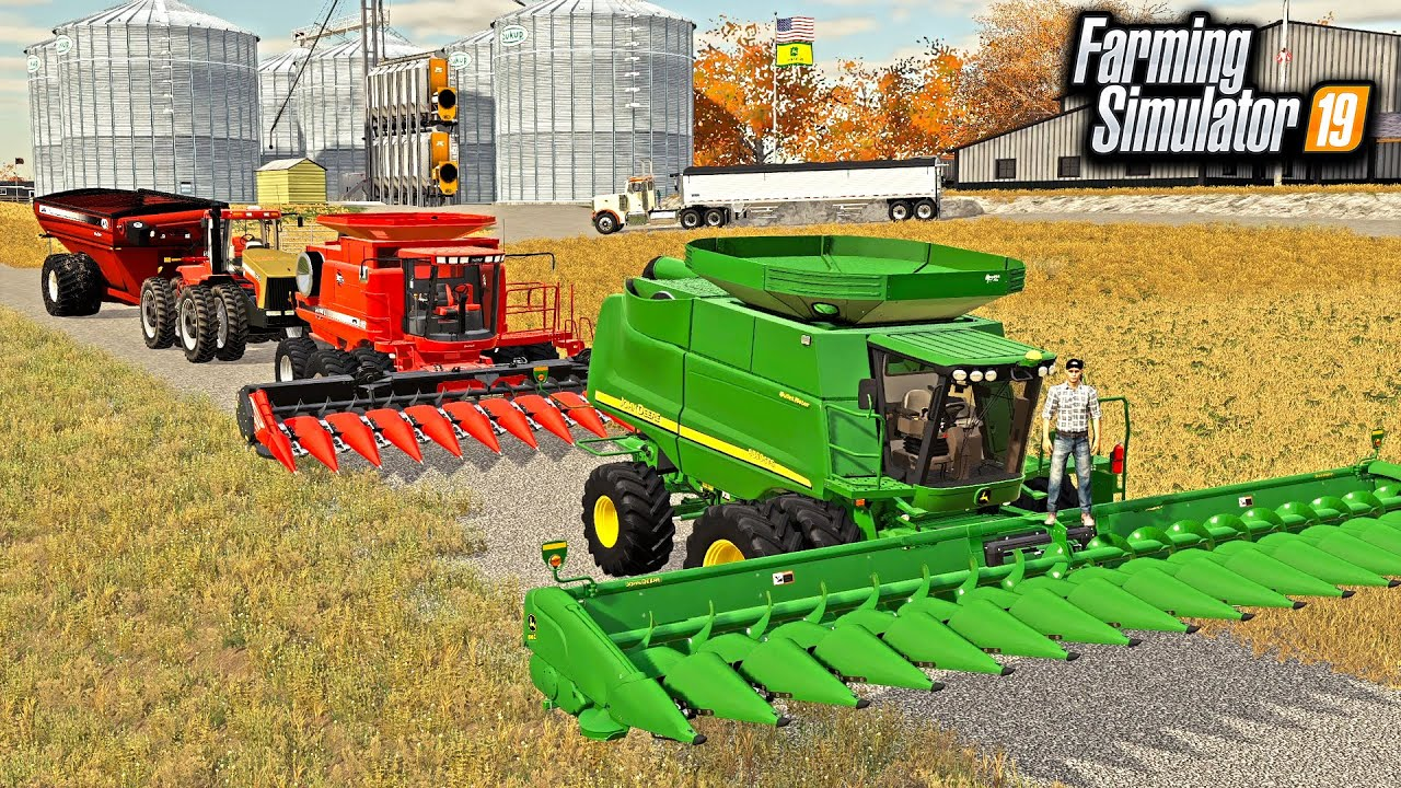 IOWA CORN HARVEST LIVE! (MULTIPLAYER ROLEPLAY)  | FARMING SIMULATOR 2019