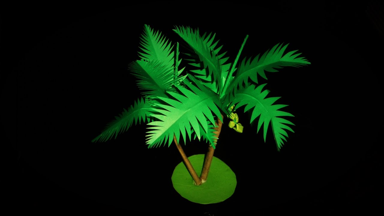 Diy How To Make A Coconut Paper Tree Tutorial Very Easy Youtube
