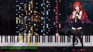 """동방홍마향-東方紅魔郷[Touhou Project] """"브와르 마법도서관(ヴワル魔法図書館)"""" [MIDI] (synthesia)"""
