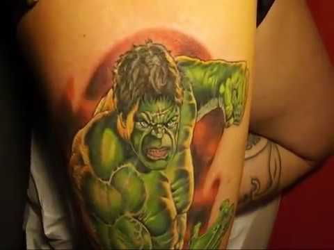 78ff43a0c Hulk Tattoo Realistic by Ettore Bechis at Salvation Tattoo Lounge . Best  tattoo shop in Miami Beach