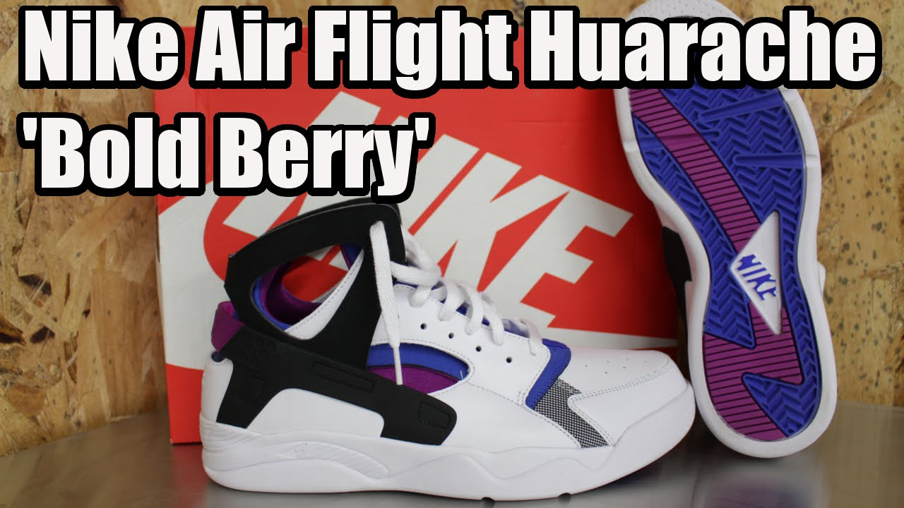 c558194c2b6f Nike Air Flight Huarache PRM QS  Lyon Blue Bold Berry  W  On Foot ...