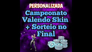 #FORTNITE-CAMP VALENDO SKIN--CUSTOM ROOM + DRAW-AT THE END