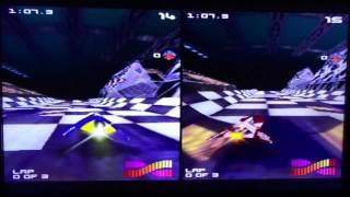 WipEout 64: Vertical Split Screen