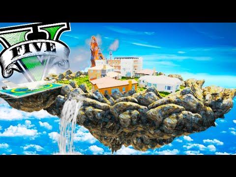 ISLA FLOTANTE EN GTA 5 !!!  OMG EL MEJOR MAPA DE GTA V MODS PC Makiman