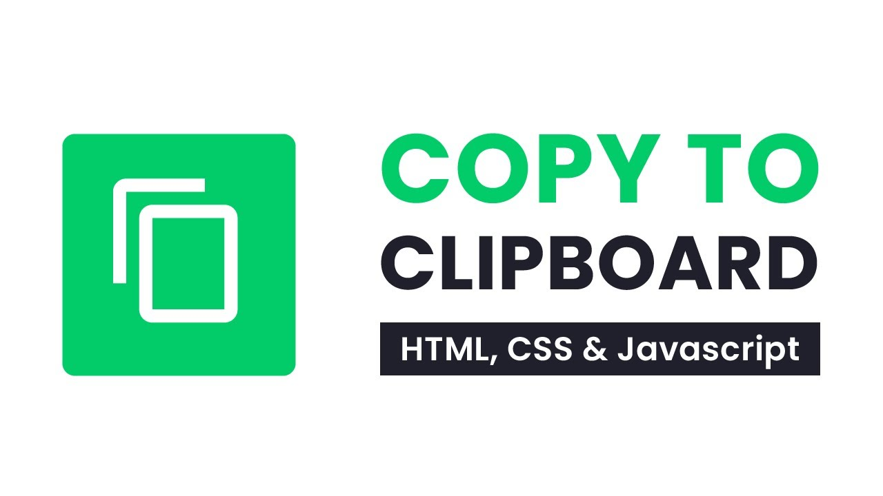 Javascript Copy To Clipboard   No Plugin   With Source Code
