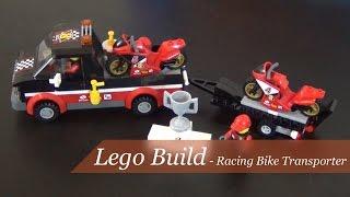 Lego Build - Lego City Racing Bike Transporter Set #60084