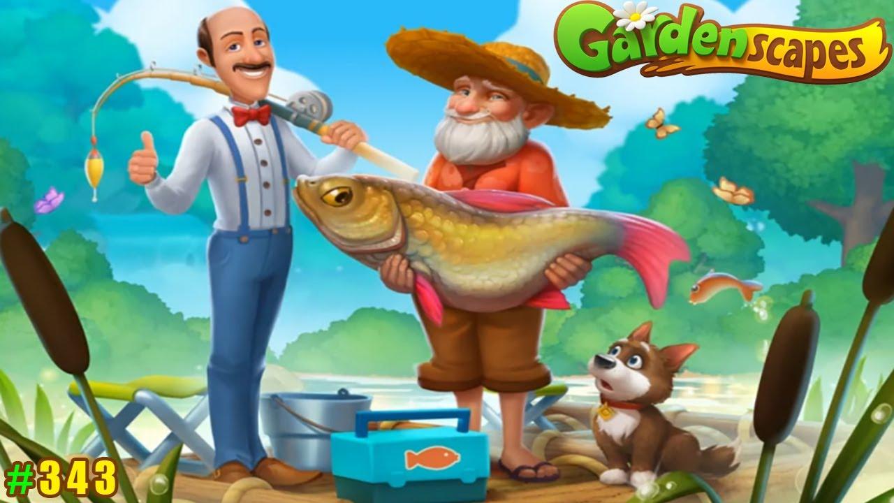 Gardenscapes Садовник ОСТИН#343 (уровни 3292-3303) Отличная Рыбалка и старый Дом с Подвалом