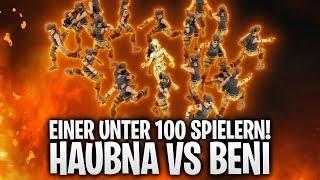 1ER UNTER 100 SPIELERN! HAUBNA vs BENI! 🔥 | Fortnite: Battle Royale