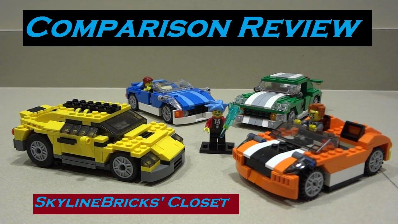 Comparison Review Lego Creator Car Sets Youtube